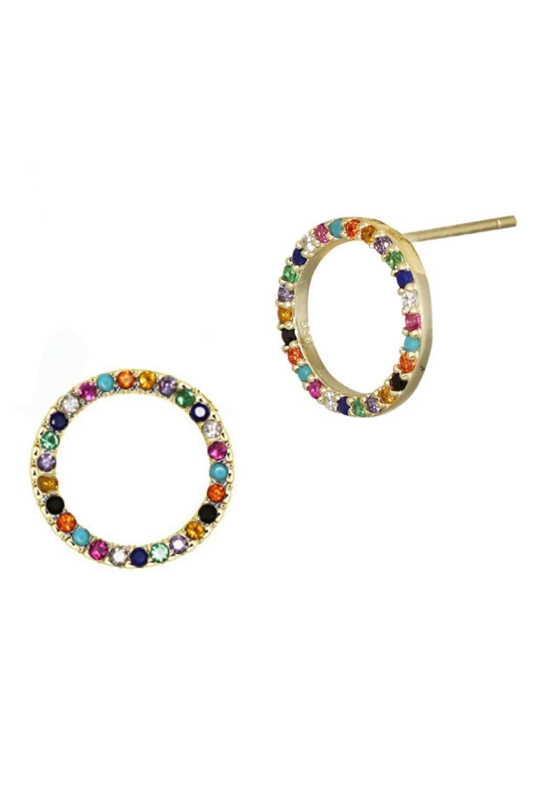 Jaimie Nicole Multi Color Stud Earrings Front Cropped Image