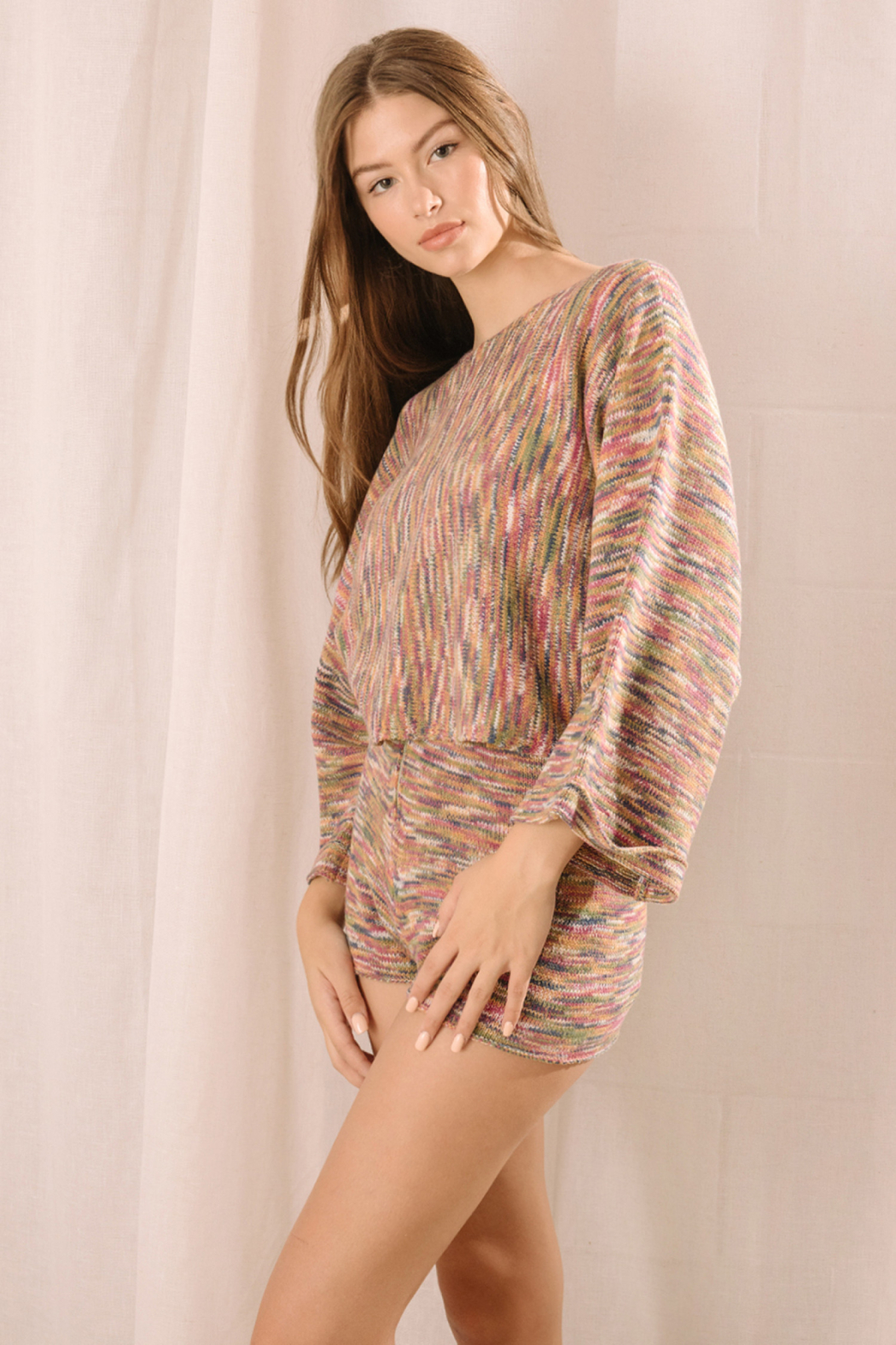 storia Multi Color Sweater - Side Cropped Image