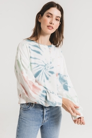 z supply Multi Color Tie Dye Pull Over - Product Mini Image
