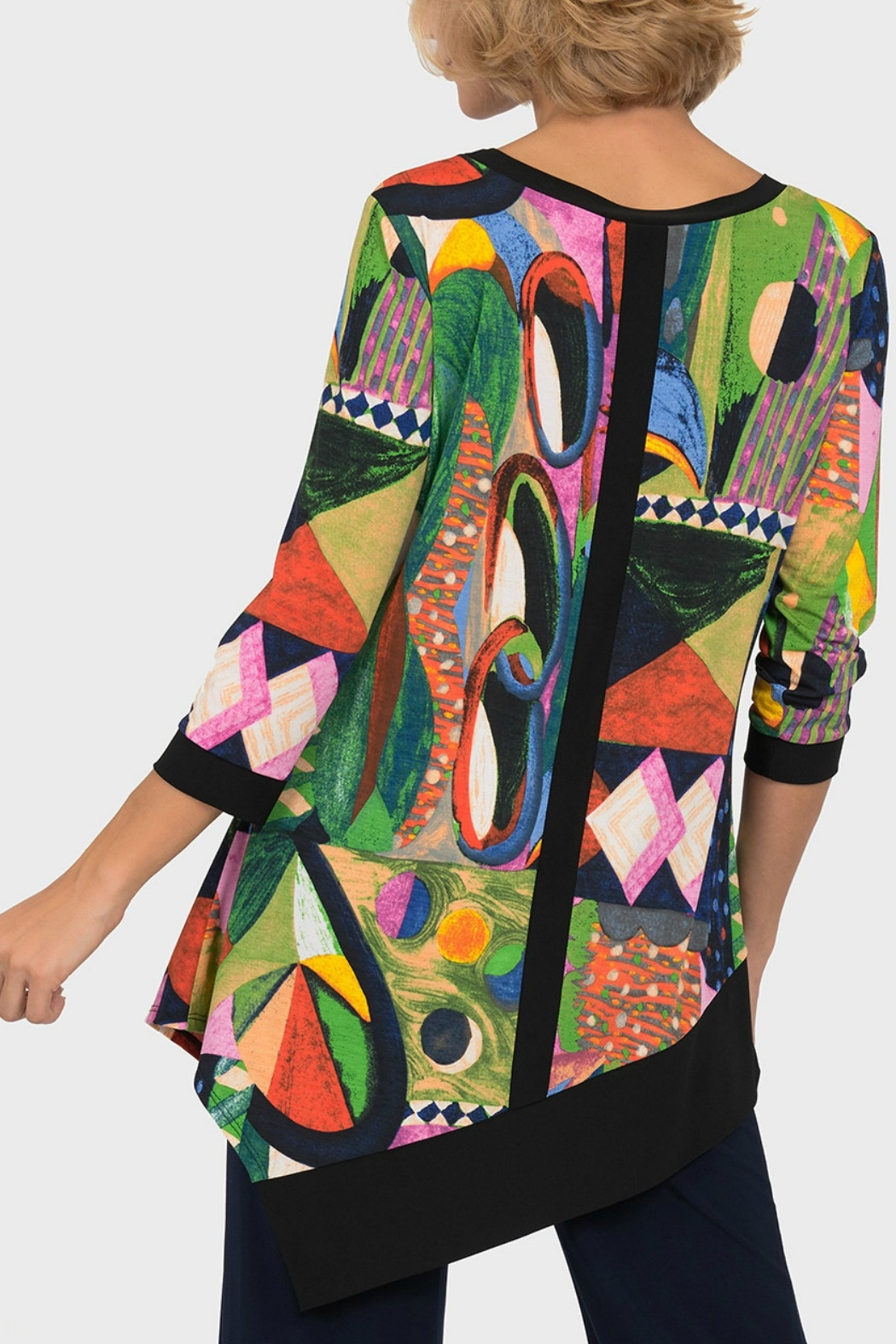 Joseph Ribkoff USA Inc. Multi Color Tunic - Front Full Image