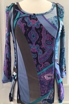 Lynn Ritchie Multi-colored blouse with zippers on side - Alternate List Image
