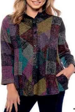 trisha tyler Multi Colored Button Front Jacket - Alternate List Image