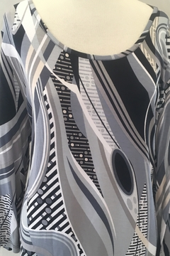 Lynn Ritchie Multi-colored grey and black tunic top. - Product List Image