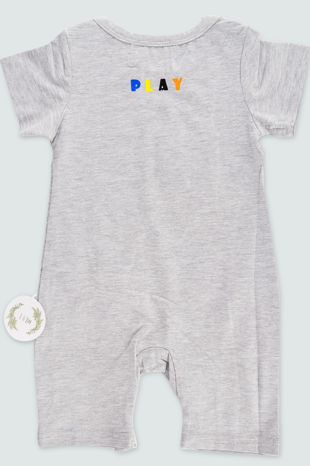 T & Tim Multi-Colored Jumpsuit with Bubble Writing - Front Full Image