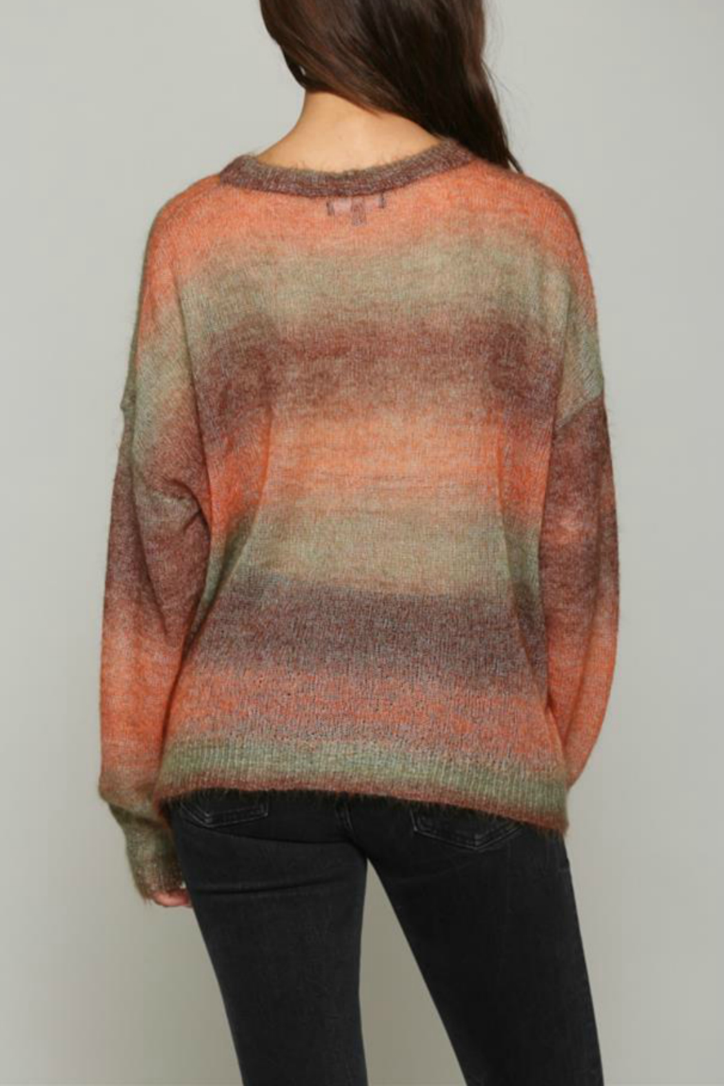 Fate Multi colored, light weight sweater - Front Full Image