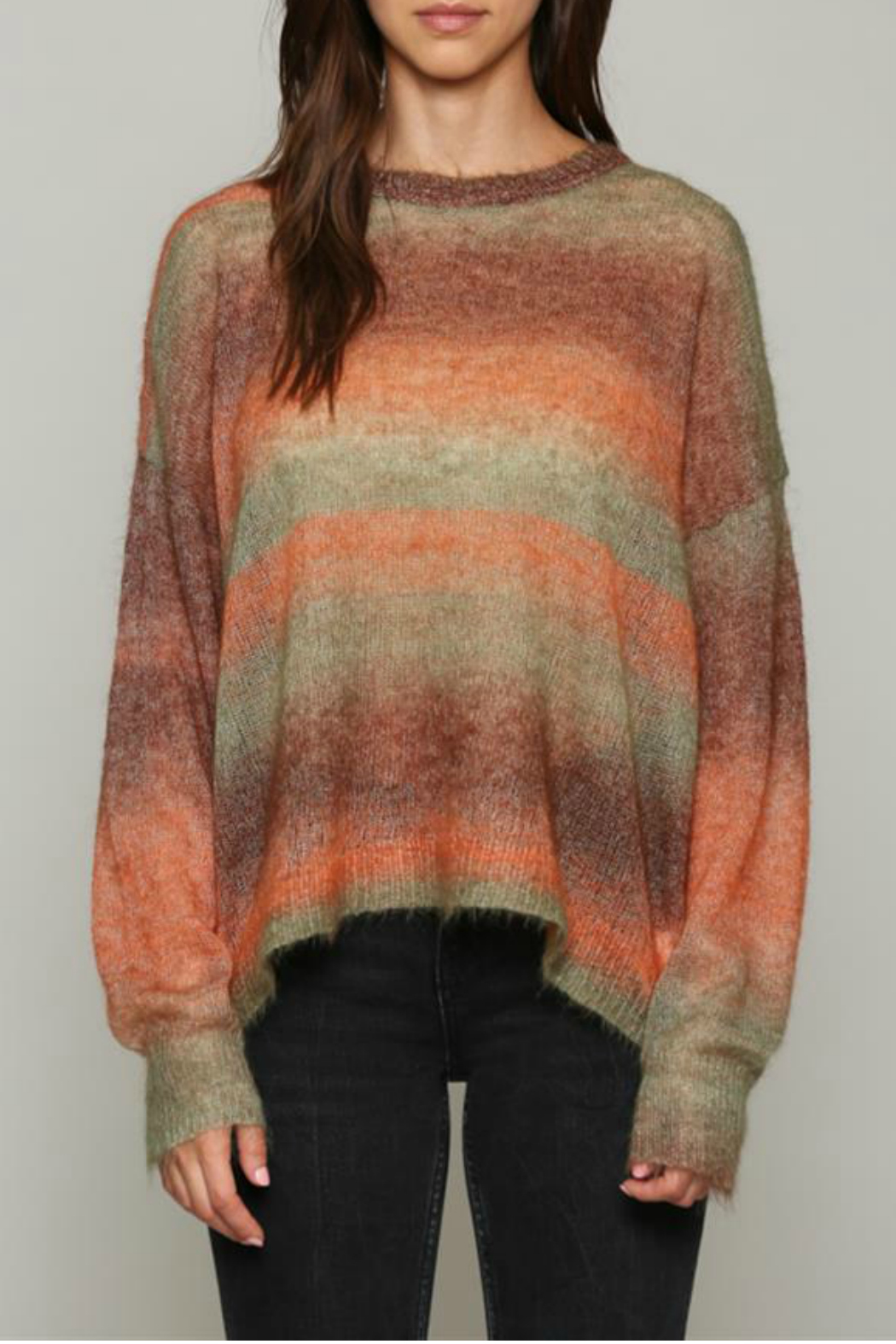 Fate Multi colored, light weight sweater - Front Cropped Image