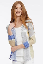 Nic + Zoe Multi-colored lightweight cardigan - Front cropped