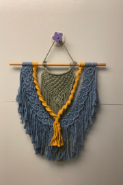 Creative Cords Multi colored macrame wall hanging - Front cropped
