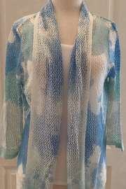 Ethyl Multi-colored open stitch cardigan sweater - Front cropped