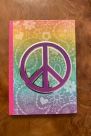 tesoro  Multi Colored Peace Sign Journal - Product Mini Image