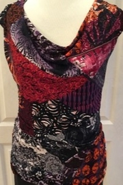 Frank Lyman Multi-colored print top with elasticized sides - Product Mini Image