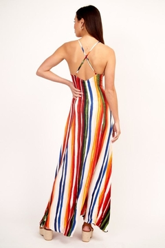 Olivaceous Multi-Colored Stripe Dress - Alternate List Image