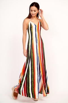 Shoptiques Product: Multi-Colored Stripe Dress