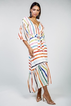 Latiste Multi-Colored Stripe Dress - Product List Image