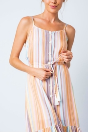 Cozy Casual Multi-Colored Stripe Dress - Back cropped