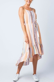 Cozy Casual Multi-Colored Stripe Dress - Side cropped