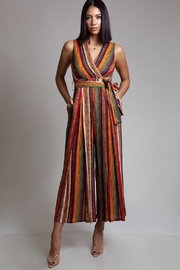 Latiste Multi-Colored Stripe Jumpsuit - Front cropped