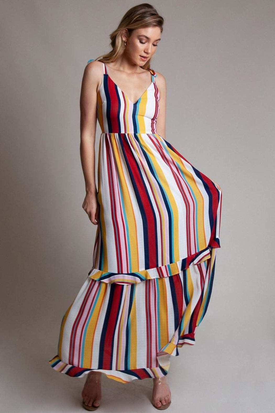 674ff9be78147 Latiste Multi-Colored Stripe Maxi from Los Angeles by Chikas ...
