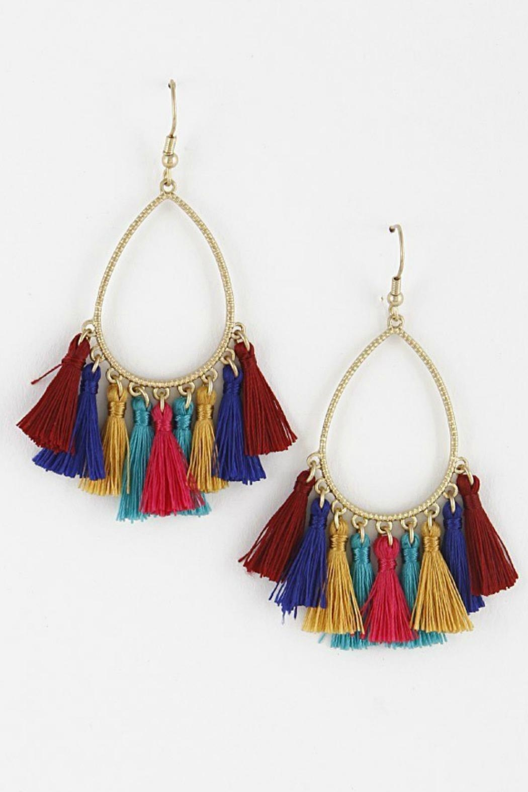 a81206957b767 Bag Boutique Multi-Colored Tassel Earrings from Kentucky by Izzie's ...