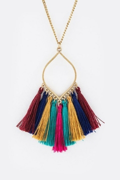 Bag Boutique Multi-Colored Tassel Necklace - Product List Image