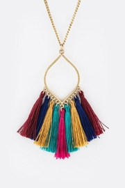 Bag Boutique Multi-Colored Tassel Necklace - Product Mini Image