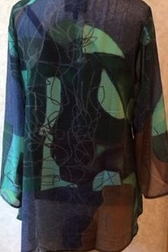 Lynn Ritchie Multi colored tunic top overlay with black tank - Alternate List Image