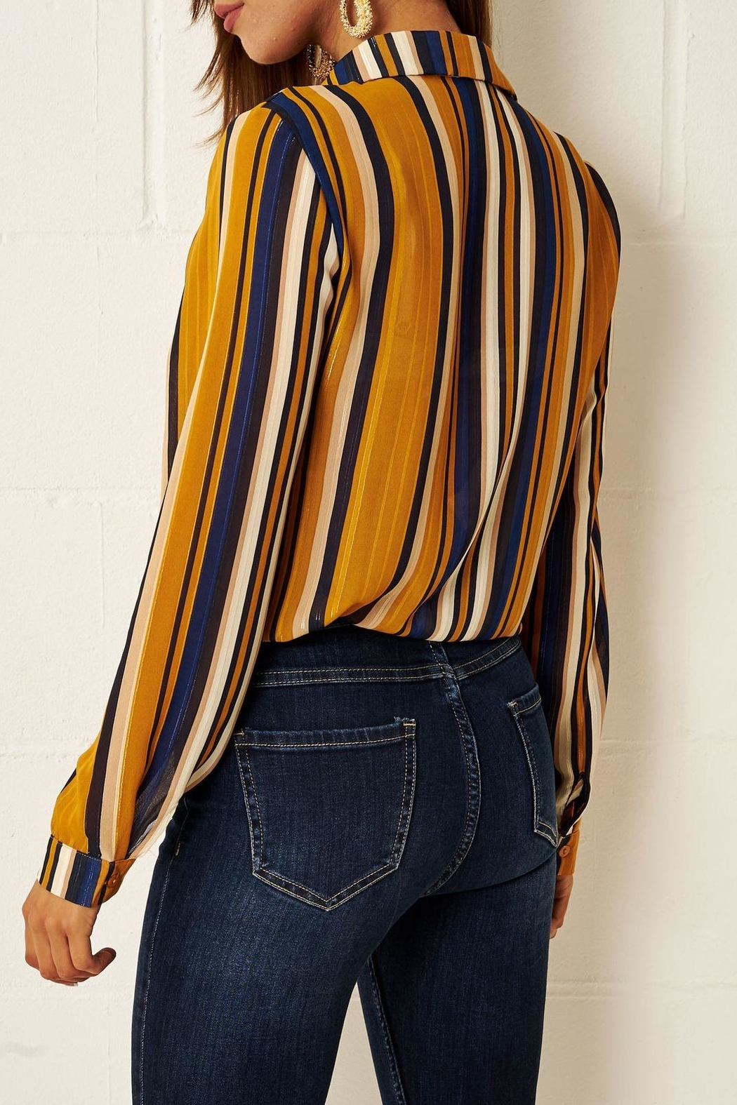 frontrow Multi-Colour Striped Shirt - Front Full Image