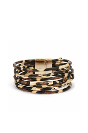 Mimi's Gift Gallery Multi Cord Leopard Bracelet - Product Mini Image