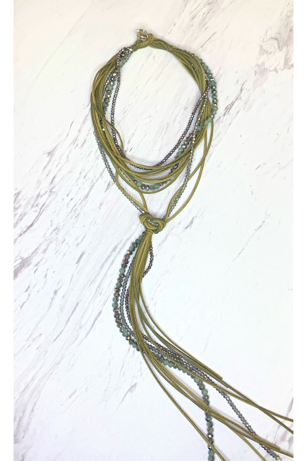 Rush by Denis & Charles Multi Crystal & Suede Necklace - Main Image