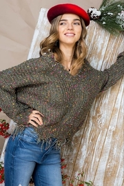 Main Strip Multi-Dot Distresses Sweater - Product Mini Image