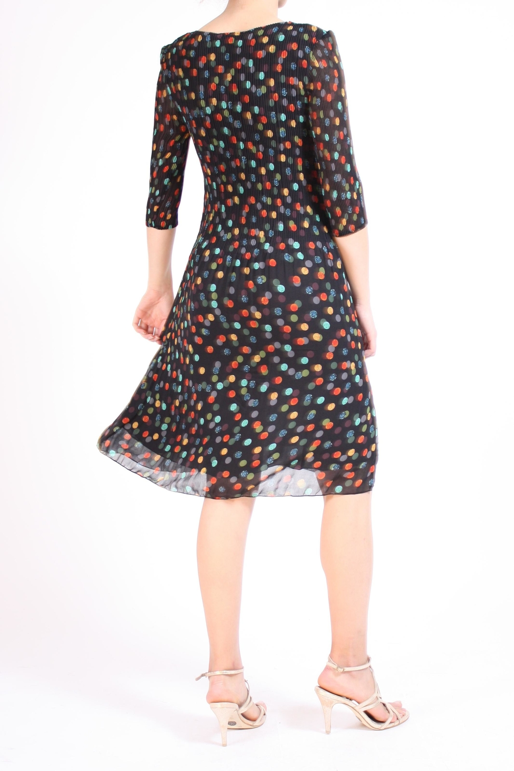 Talk of the Walk Multi Dots Dress - Side Cropped Image