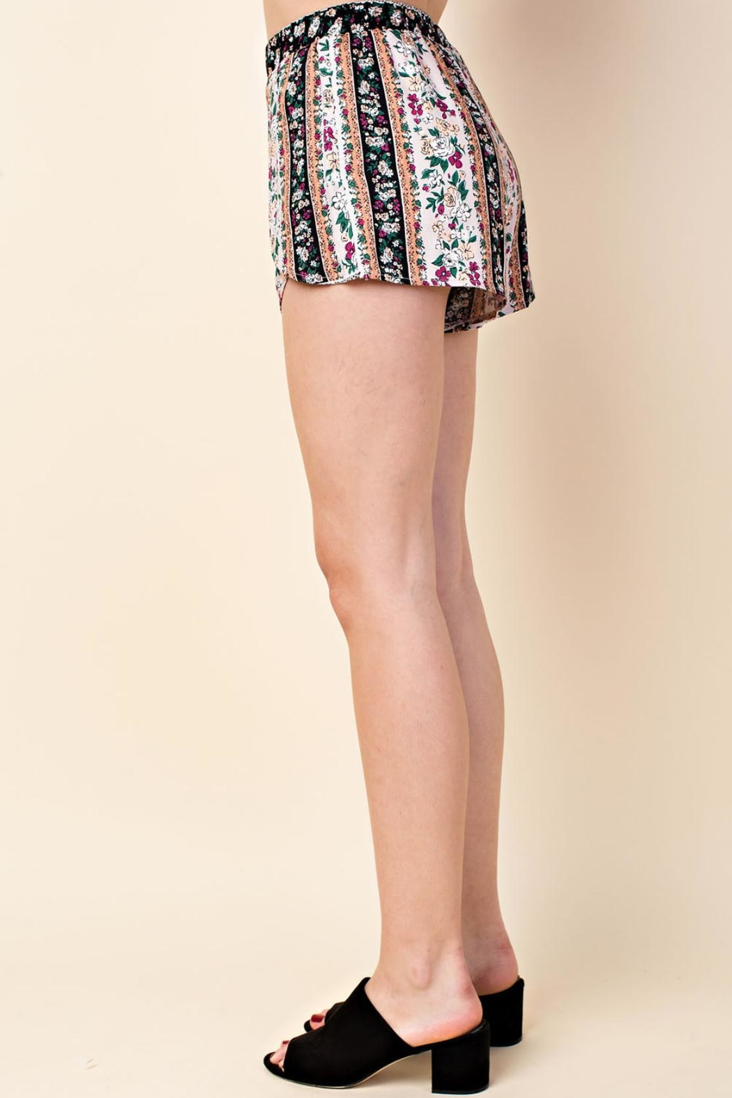 Wild Honey Multi-Floral Pattern Shorts - Side Cropped Image