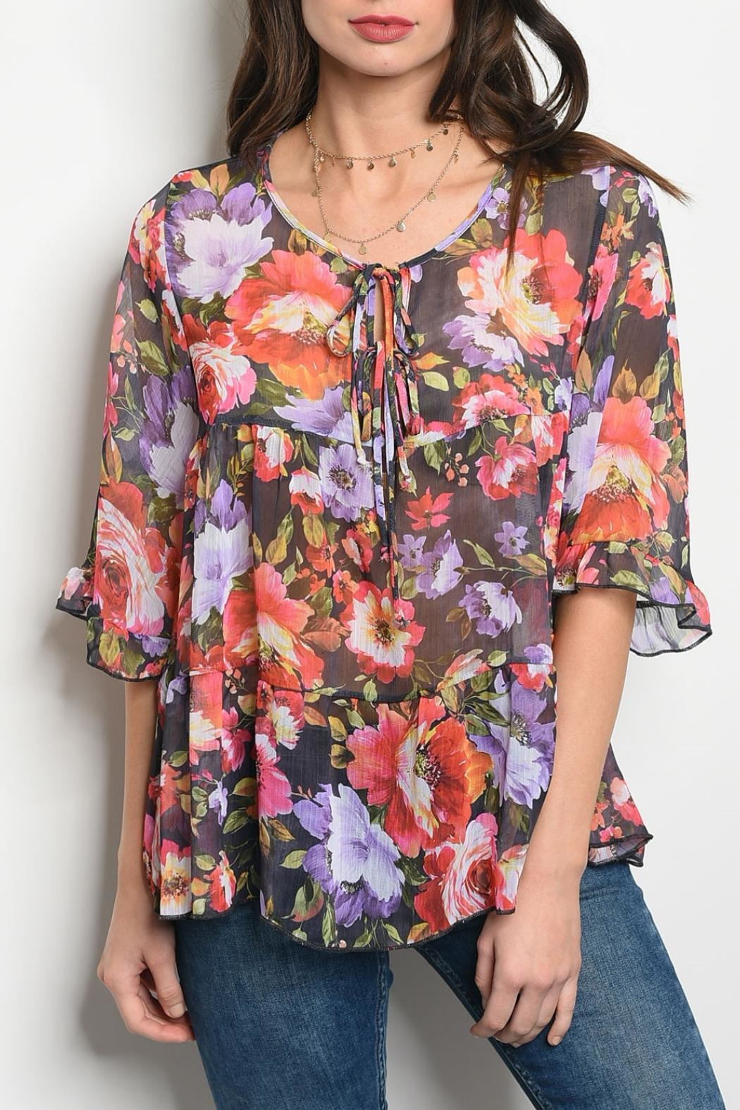 4846a7c793d easel Multi Floral Top from Kansas by twill tradE — Shoptiques