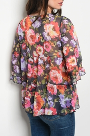 easel Multi Floral Top - Front full body