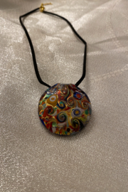 tesoro  Multi Glass Blown Pendant Necklace - Front cropped