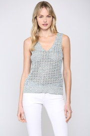Fate Multi Knit V Neck Sweater Tank Top - Product Mini Image
