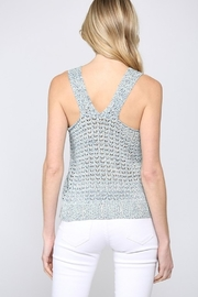 Fate Multi Knit V Neck Sweater Tank Top - Front full body