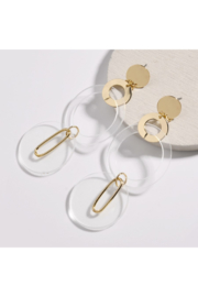 The Birds Nest MULTI LAYERED GOLD/ACRYLIC EARRINGS - Product Mini Image
