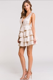 Blithe  Multi-Layered Gold Dress - Front full body