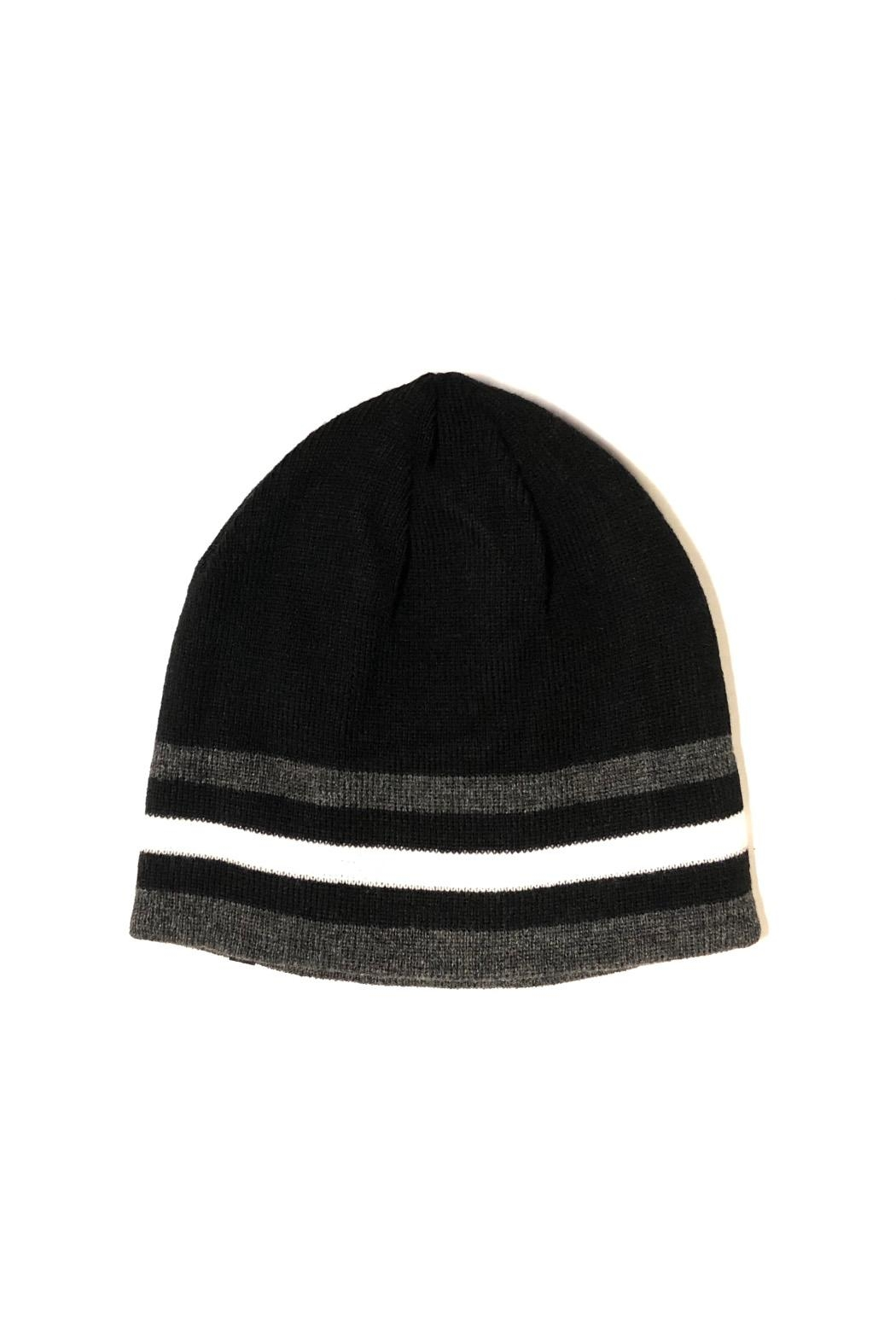 C.C Beanie Multi-Line Sporty Beanie - Front Cropped Image