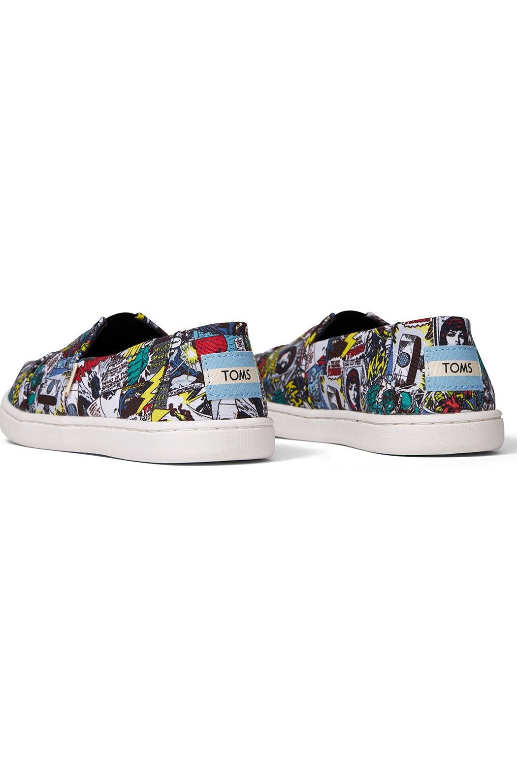 TOMS Multi MARVEL Comic Pop Print Youth Classics - Side Cropped Image