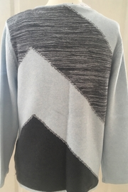 Marble Multi pale blue & grey sweater - Front cropped