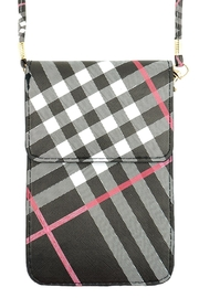 Riah Fashion Multi-Plaid Cellphone-Cross-Body-Bag - Product Mini Image