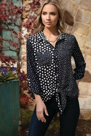 Multiples Multi Print Blouse - Front cropped