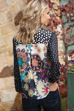 Multiples Multi Print Blouse - Alternate List Image