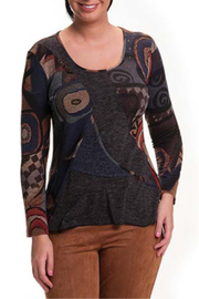 Bali Multi print Scoop neck Sweater - Product Mini Image