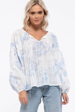 blu Pepper  Multi Print Tiered Top - Product List Image