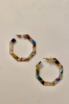 Shoptiques Product: Multi Resin Hexagon Hoops