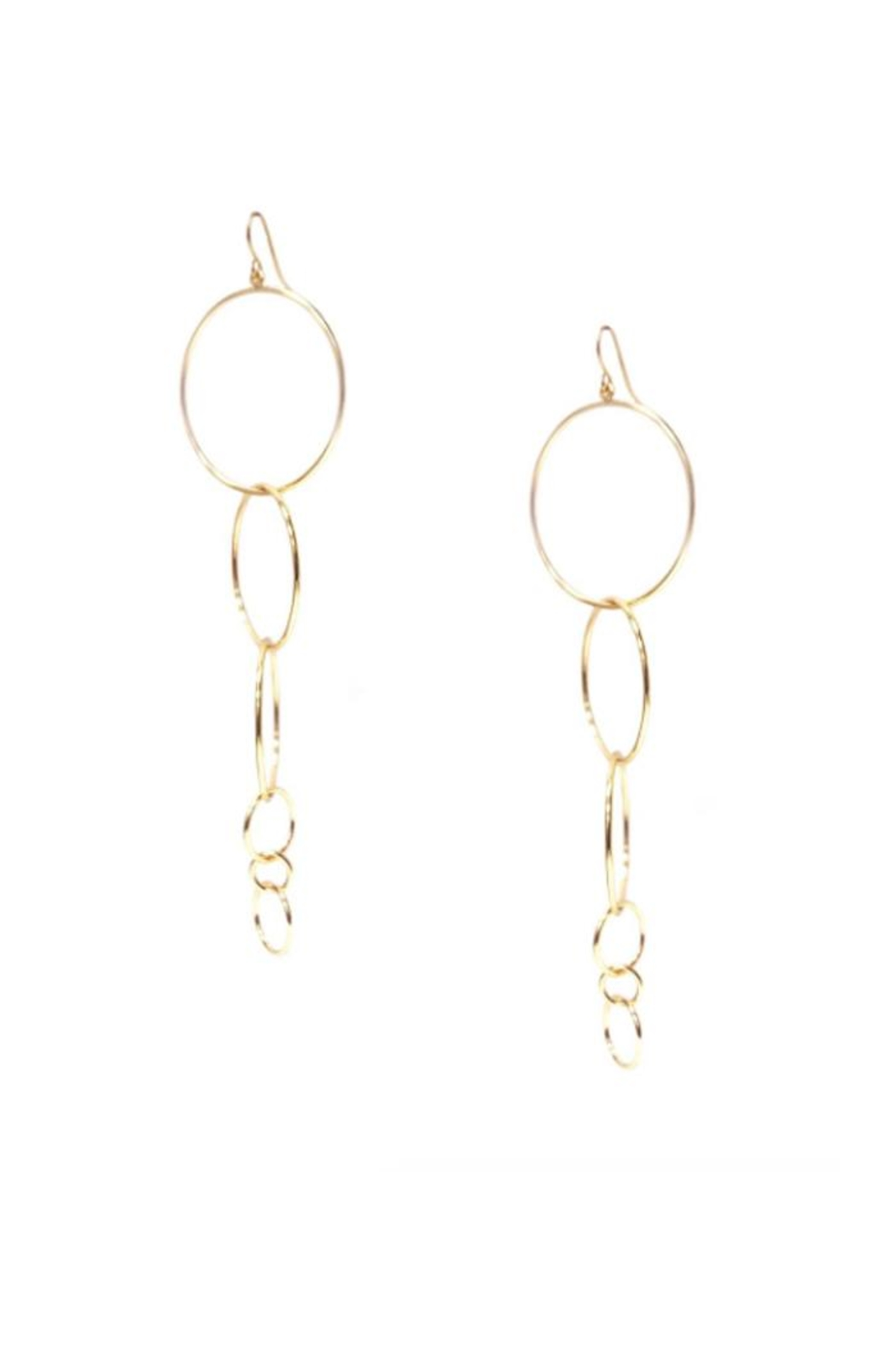 Marlyn Schiff Multi-Ring Drop Earring - Front Cropped Image