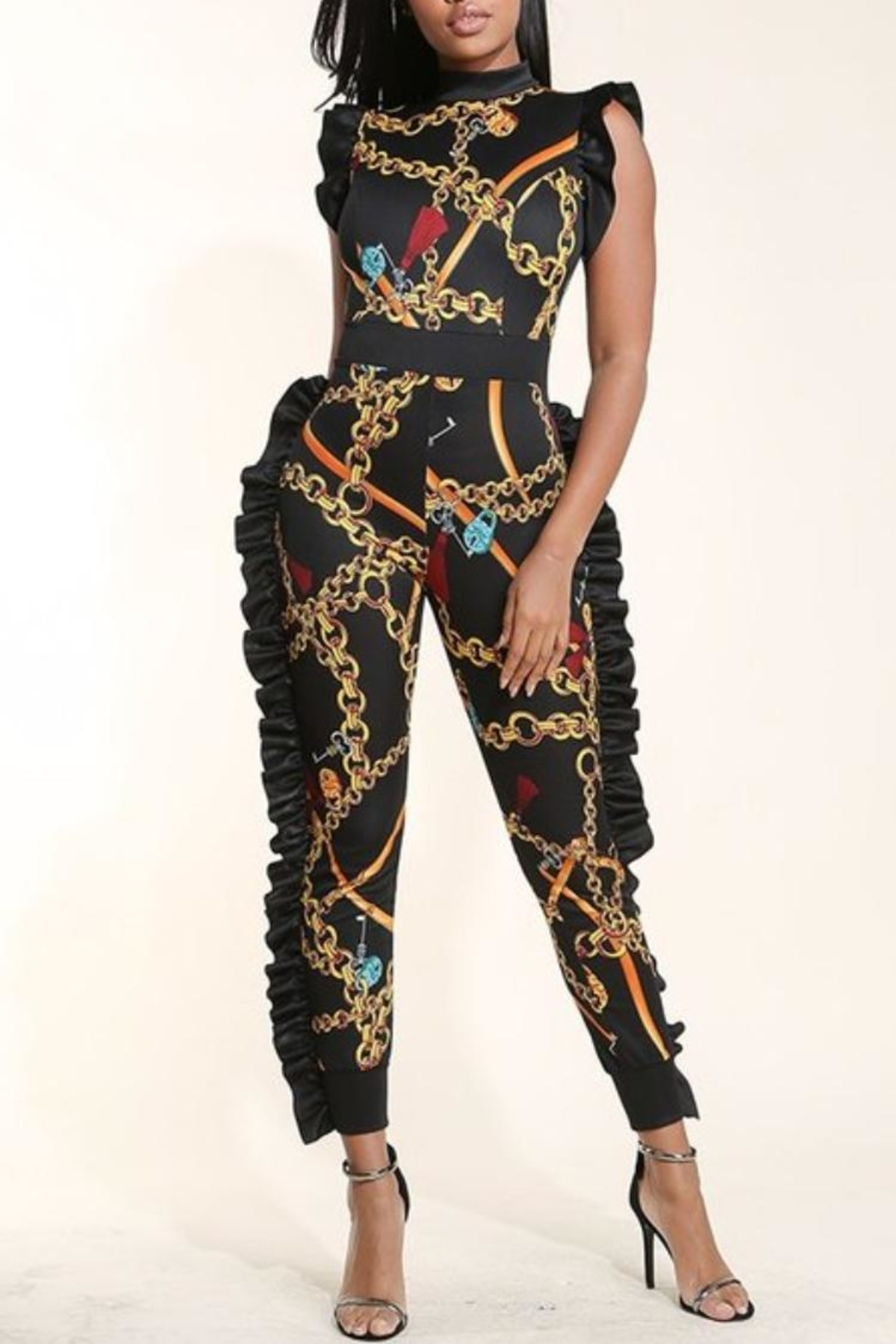 99e13bf1ed K too Multi Ruffled Jumpsuit from Michigan by Javahs Fashion Cafe ...